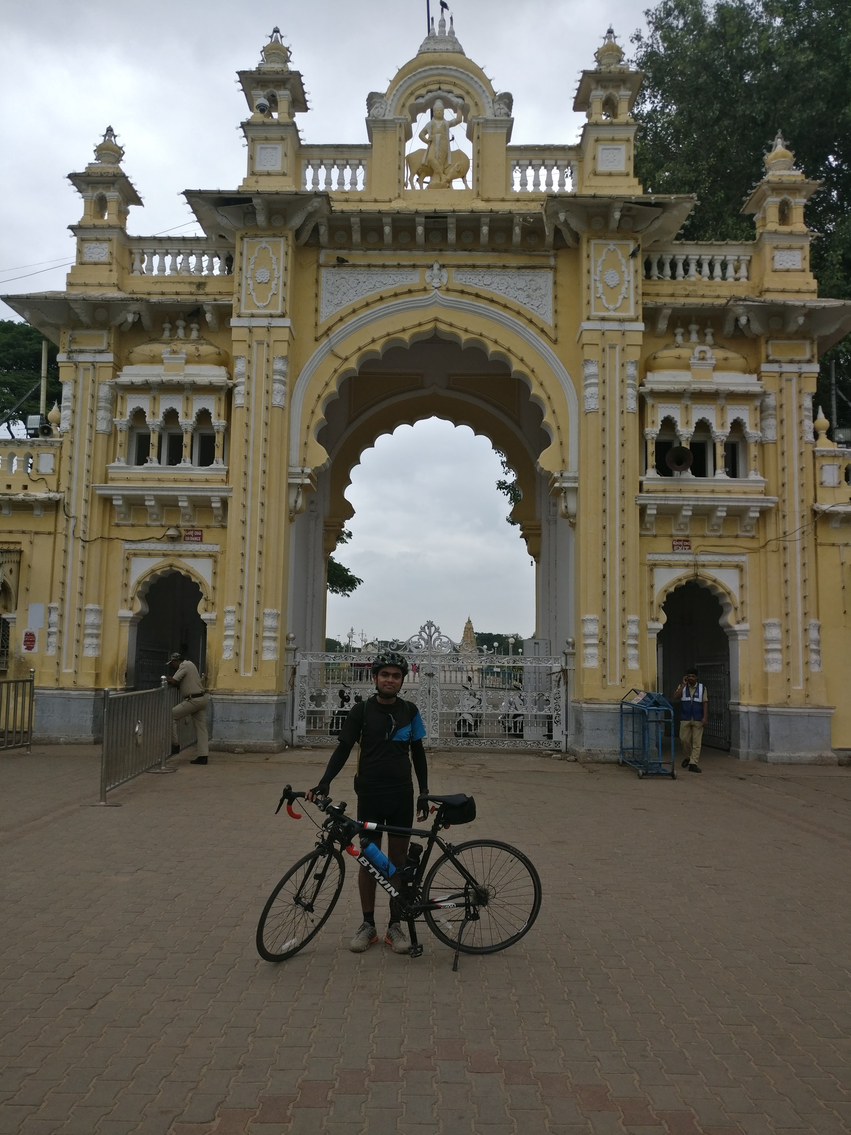 Infront of mysore palace